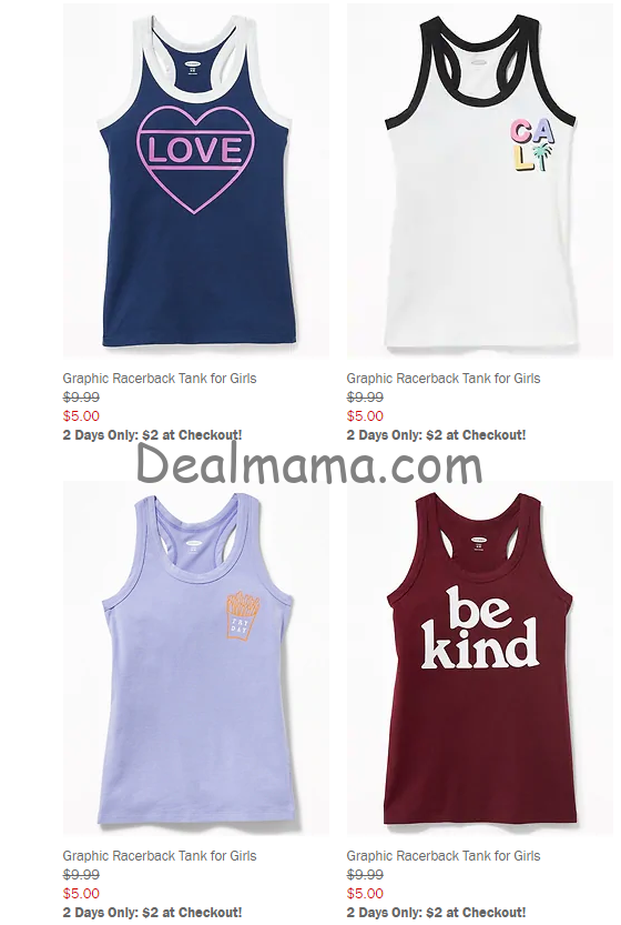 610d4d81229848 HURRY over to Old Navy (Both in Store   ONLINE) where they are offering  tanks for women