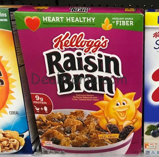 Kellogg's Raisin Bran Cereal Only 0.89 at CVS