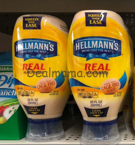 Hellmann's Mayonnaise only 1.99 At Kroger