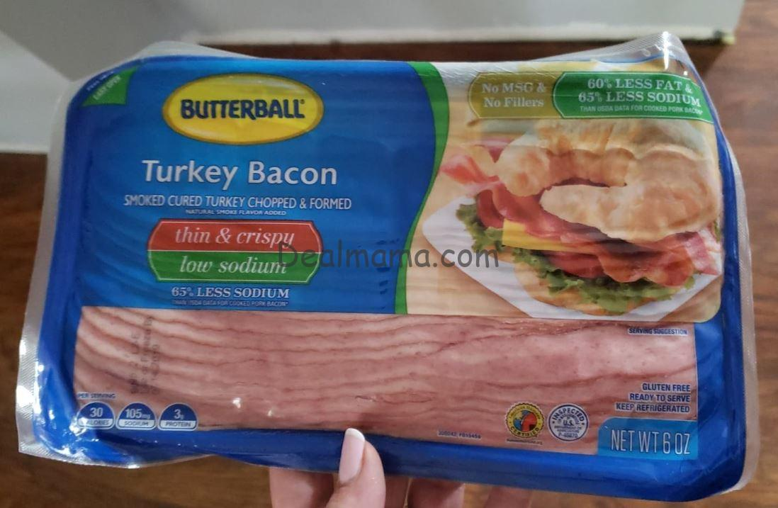 Butterball Turkey Bacon only 0.90 at Kroger!