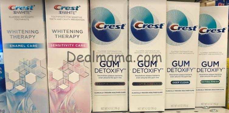 Crest 3D White Whitening Therapy and Crest Gum Health Toothpastes only 0.49 at CVS!
