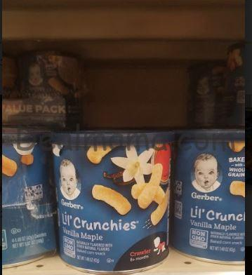 Gerber Lil' Crunchies and Puffs only 0.99 at Kroger