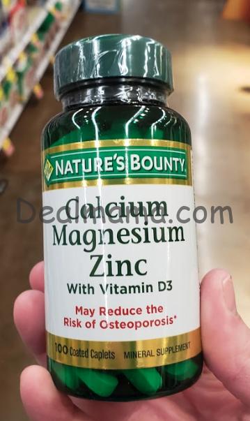 Nature's Bounty Calcium Magnesium Zinc Only 1.99 at Rite Aid