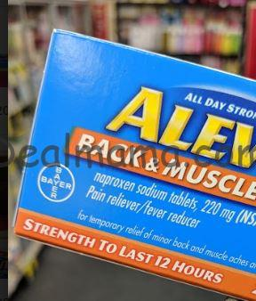 Aleve Back & Muscle Pain 100 ct Only 2.99 at CVS