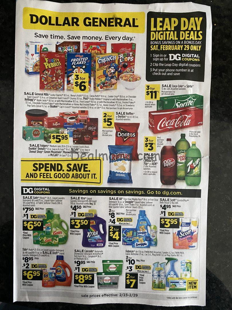Dollar General Ad Scan 2/23 – 2/29 (SUPER EARLY)