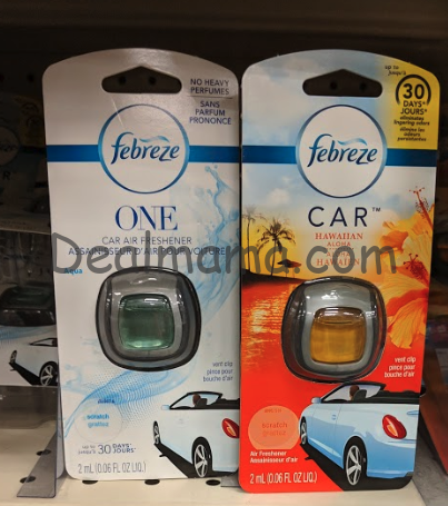 Febreze Air Effects, Fabric Refresher, or Car Vent Clips only 1.50 at Walgreens!