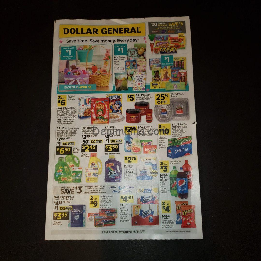 Dollar General Ad Scan 4/5 – 4/11