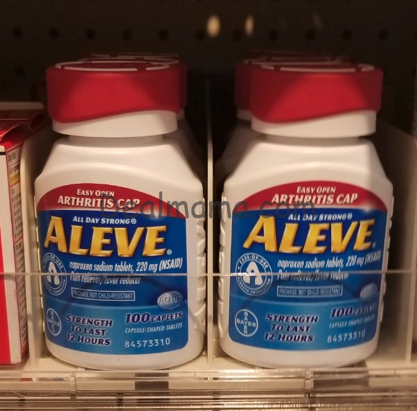 Aleve Pain Reliever 100 ct only 3.99 at Walgreens Online!