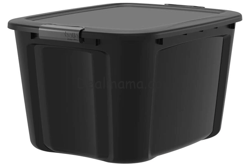 Bella 18-Gallon Storage Tote with Latching Lid only 4.98 at Lowe's!