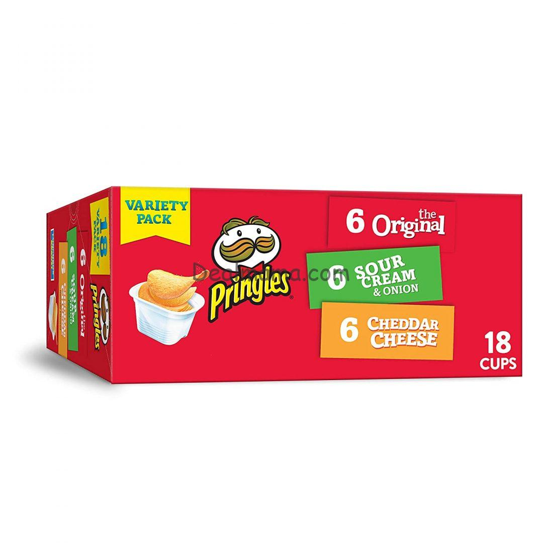 Pringles Flavored Variety Pack Potato Crisps 12.9 oz (18 Count) ONLY 6.83 Shipped