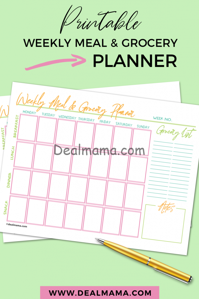 Weekly Meal & Grocery Planner - Cover