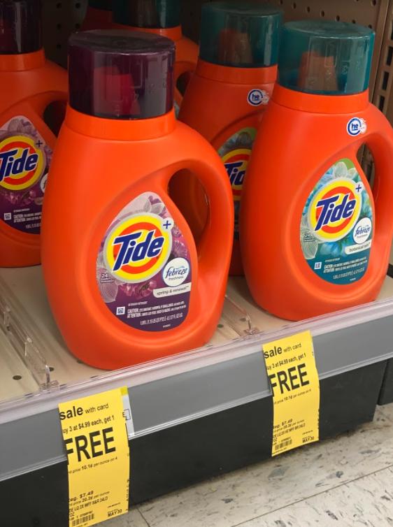 Tide Liquid Laundry Detergent & Pods Buy 3 Get 1 FREE!