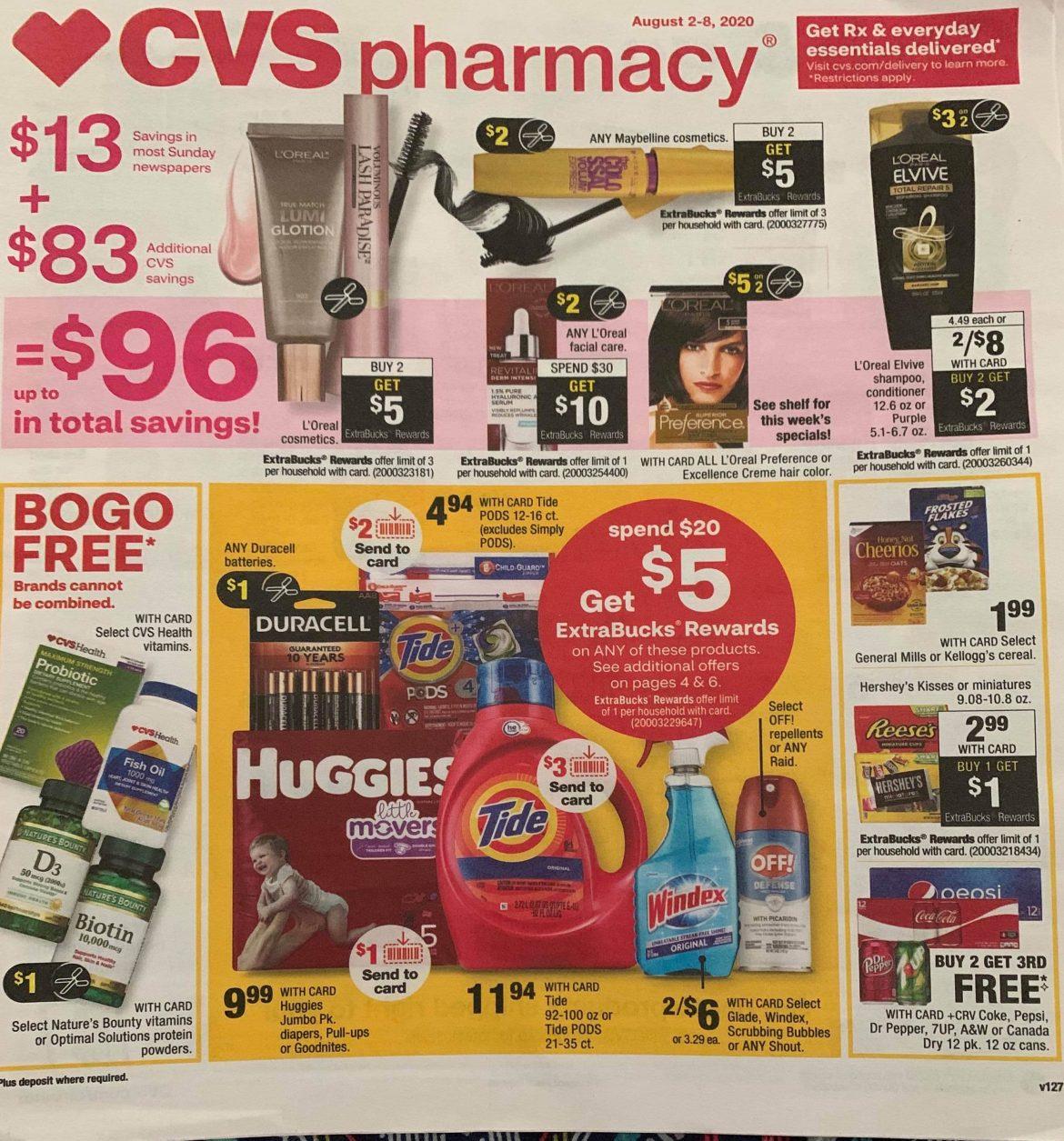CVS Ad Scan 8/2 – 8/8