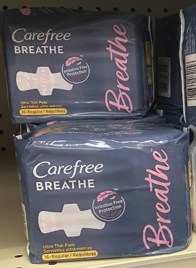 FREE Carefree Breathe Liners or Pads at Kroger