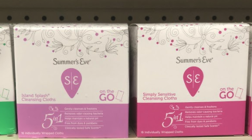 Summer's Eve Wipes only 0.97 at Walmart