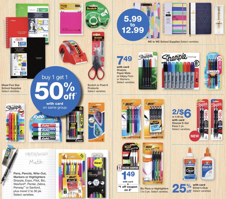 Walgreens School Supply –Week of 8/9!