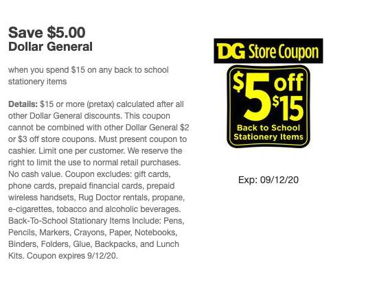 HOT back to school stationery items coupon!