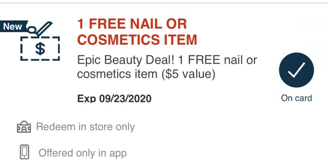 FREE Epic Beauty Item Coupon on Your CVS App!