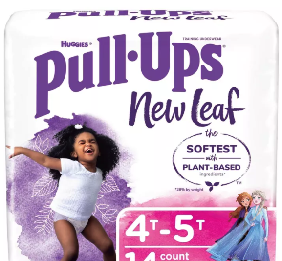 Huggies New Leaf Pull-Ups Jumbo Packs only 2.97 at Walmart