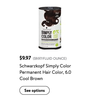 FREE Schwarzkopf Simply Color Permanent Hair Color at Walmart!