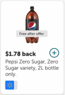 FREE Pepsi Zero 2L at Walmart