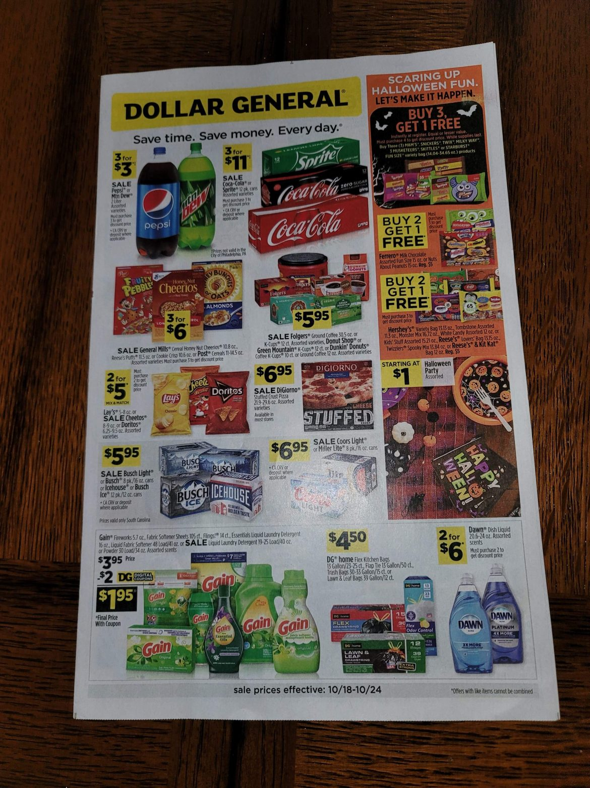Dollar General Ad Scan 10/18 – 10/24