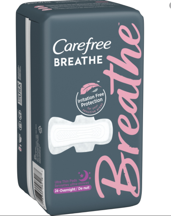 Carefree Breathe Pads only 1.47 at Walmart!