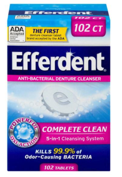 Efferdent only 0.49 at CVS!