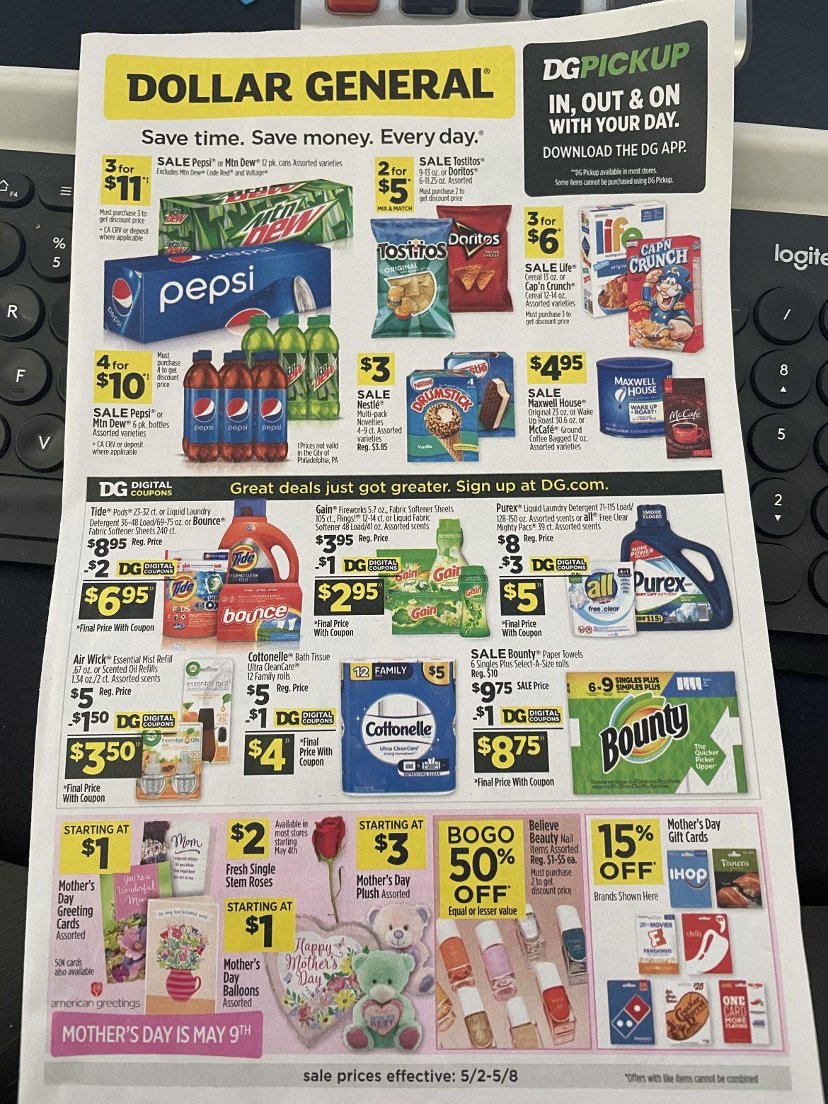 Dollar General Ad Scan 5/2 – 5/8